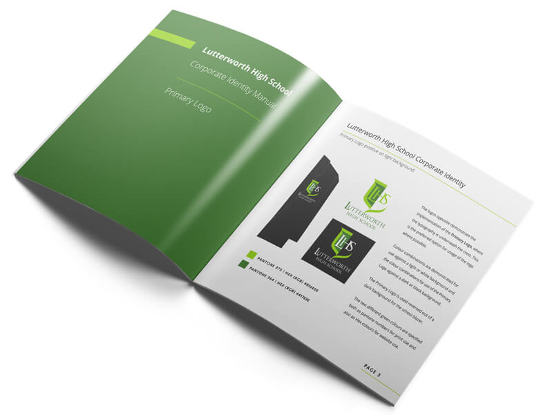 school branding corporate manual