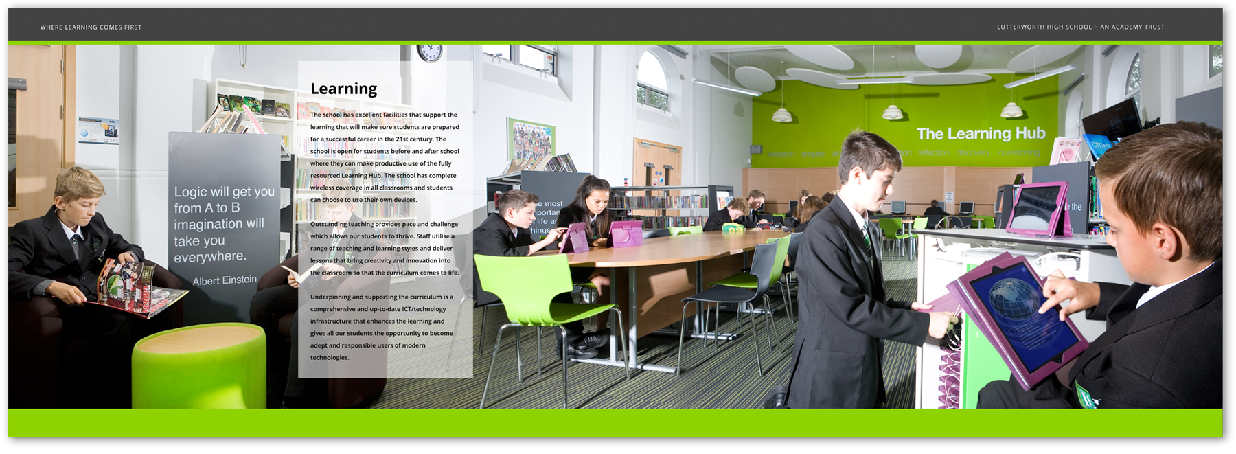 prospectus design panoramic photography learning hub