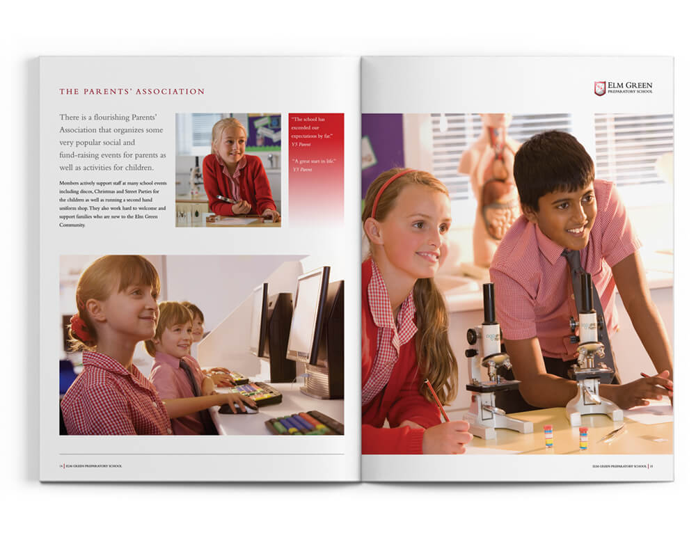 prep school brochure design