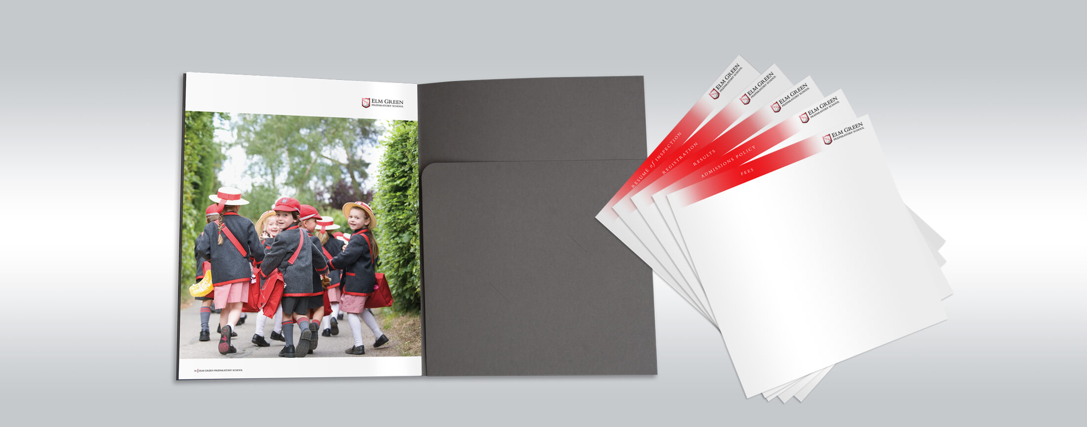 preparatory school brochure design