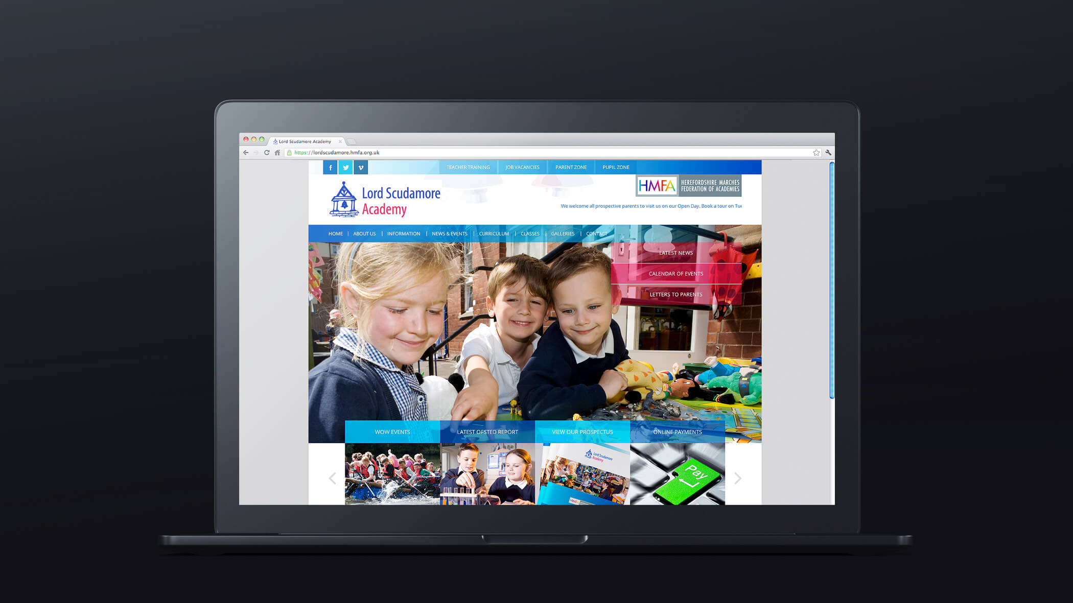 herefordshire primary school web design link