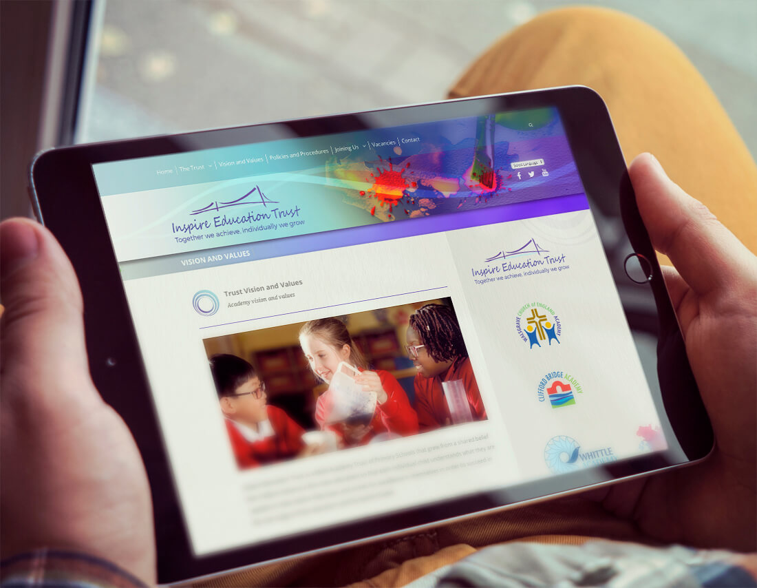 multi academy trust schools website design