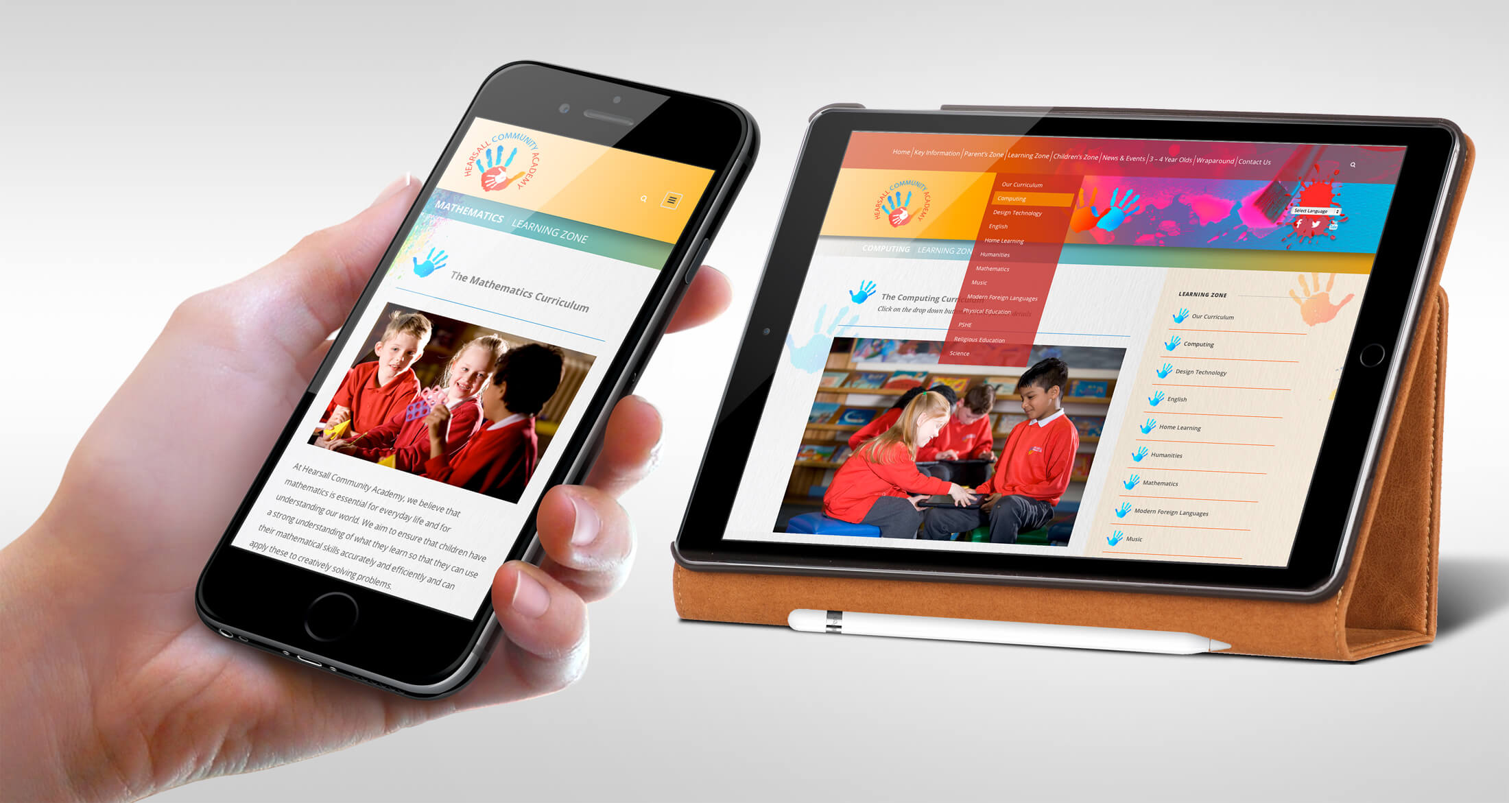 responsive school web design leicestershire academy