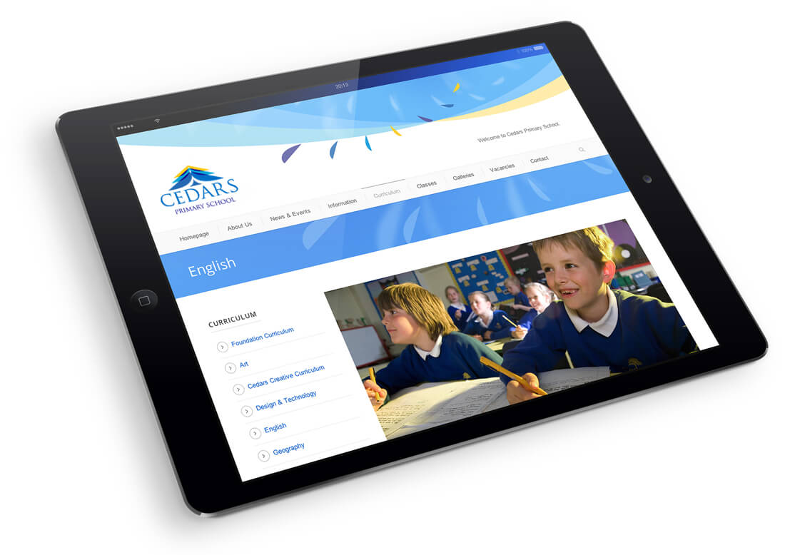 responsive school website design