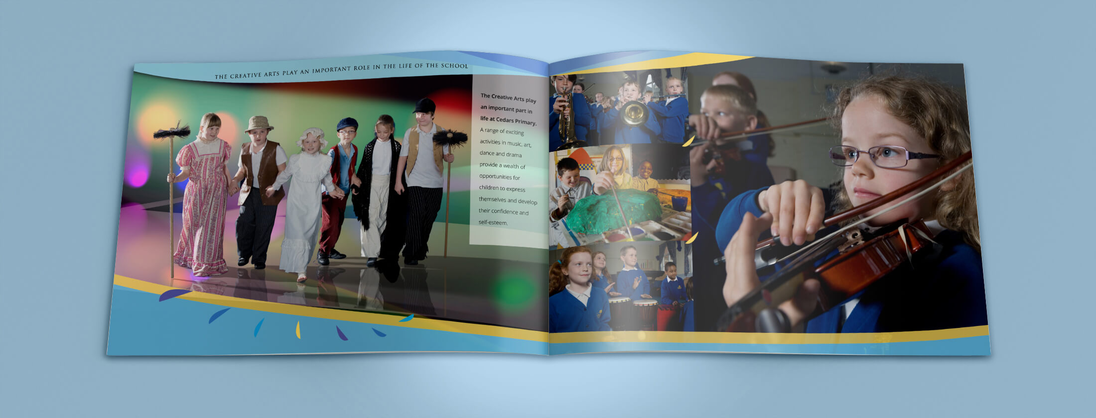 school prospectus design inside pages