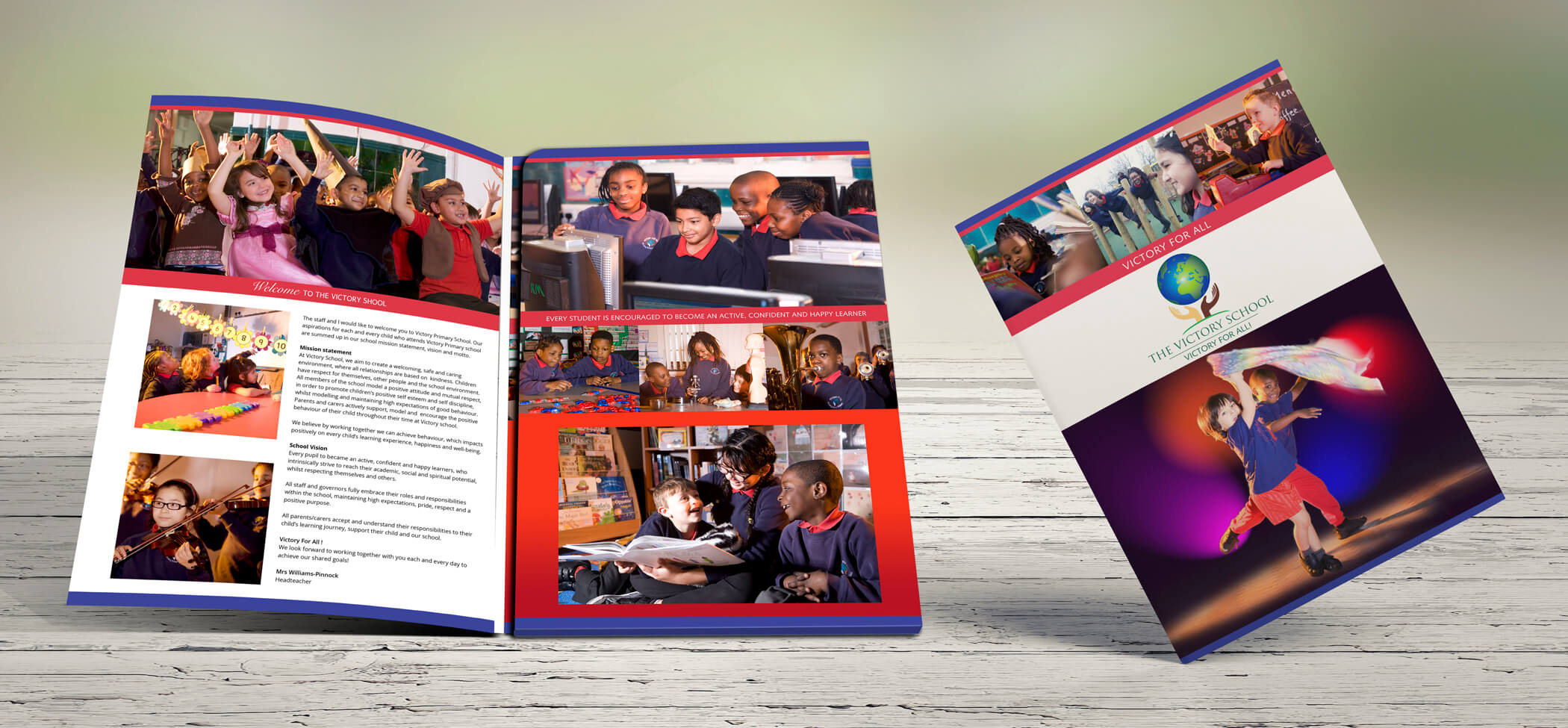 london school brochure design