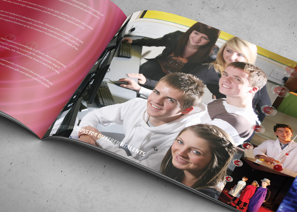 sixth form school prospectus design