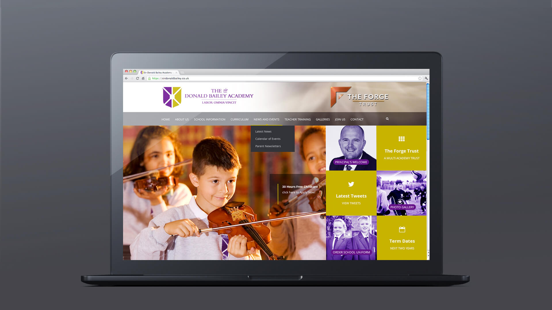 education website designs