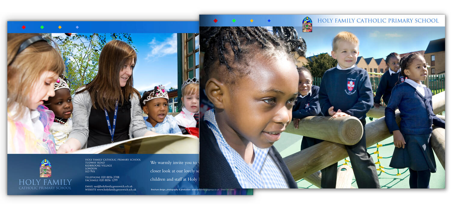 london catholic school prospectus design