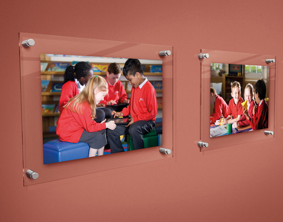school display photography boards
