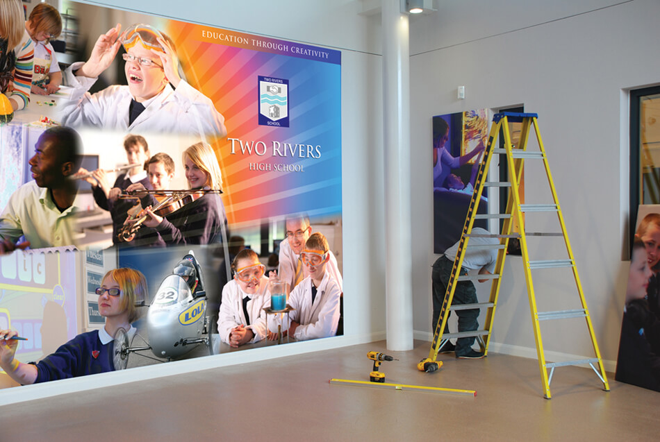 schools wall display