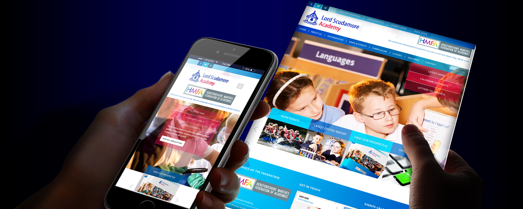 school website design hereford