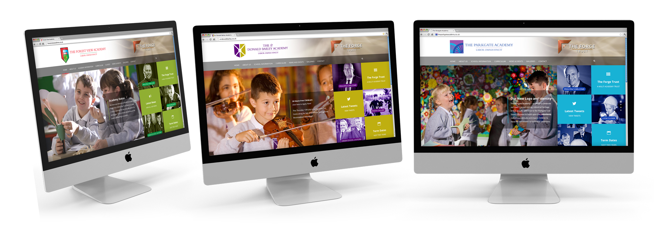 multi academy website designs