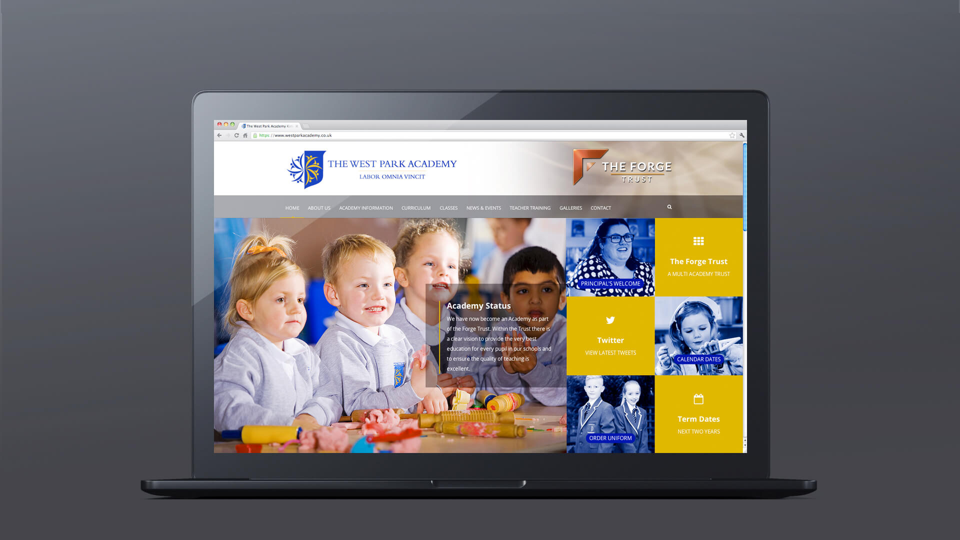 lincoln school website design